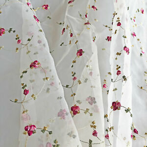 Embroidery Blossom Bridal Flower Girls Lace Fabric Dance Costume Dress Mesh 1 Y