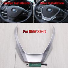 Chrome Steering Wheel Cover Trim For BMW X3 F25 X4 F26 X5 F15 2014-2016