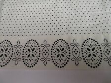 Chaps French Riviera Ivory Black Dots Floral 1 Standard Pillowcase