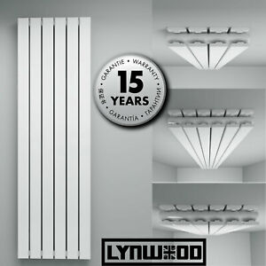 Rads Central Heating Home Designer Radiators Flat Column Heater White 8-16 Bars