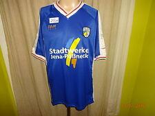"""FC Carl Zeiss Jena FAN WORLD Trikot 2000/01 """"Stadtwerke"""" + Handsigniert Gr.L- XL"""