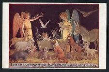 C1930s Medici Society Art Card: Birth of Jesus Christ