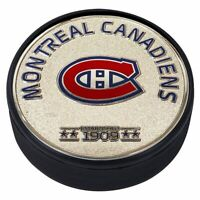 Montreal Canadiens 3D Textured Silver Plated Medallion Hockey Puck