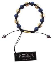 Brand New Shimla Shamballa Blue Stone & Gold Beaded Bracelet