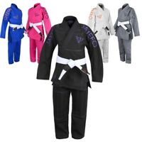 KIDS BJJ GI BRAZILIAN JIU JITSU GI UNIFORM KIMONO YOUTH FREE WHITE BELT BOY GIRL