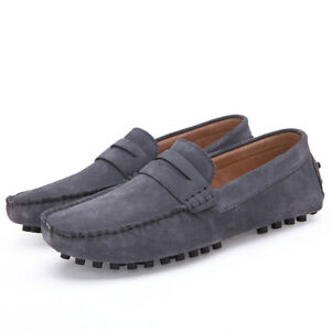 Men's Low Tops Shoes Western Loafer Slipper Lightweight Driving New Faux Suede D