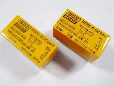 2 x SDS Relais DS2E-S-DC24V Gold 24V 2xUM 125V 0,6A #13R102#