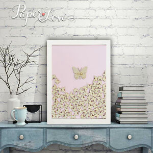 Personalised Drop Box Wedding Guest Book Butterfly Alternative White