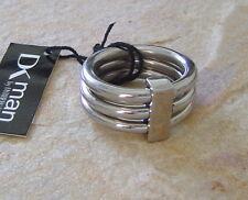 DYRBERG KERN DK Man Ring Neil Shiny Silver Stainless Steel