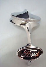 1932 Ford Car Truck Radiator Shell Chrome Ornament & Rad Cap + Black Emblem Kit