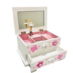 Ballerina Musical Jewellery Box Kids Gift For Girls (Pink) - LW KIDS Creations