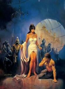 """Vintage Ken Kelly Poster """"The Priestess""""  New Rolled"""