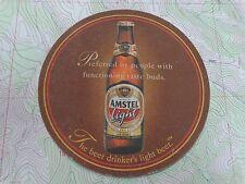 2000 Beer Coaster Bar Mat ~**~ AMSTEL Browerij Light Bier ~*~ Amsterdam, HOLLAND