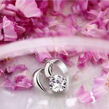 Aivni Wholesale Heart shape pendant 100% 925 sterling silver zircon pendant