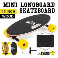 "Mini 19"" Longboard Skateboard Cruiser Skateboard Banana Downhill Complete Fast"
