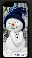 Personalized Christmas xmas SNOWMAN CELL PHONE CASE gift cel cover for mobile