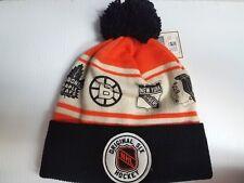 Original 6 CCM Knit Hat Cuff Pom Beanie Stocking Cap NHL