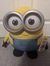 "Jumbo Talking Minion BOB Interactive Talking Soft Toy Plush- Thinkway Toys- 15"""