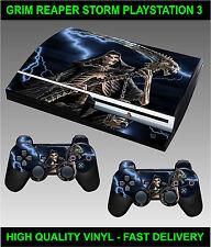 Playstation 3 VECCHIA FORMA CONSOLE ADESIVO GRIM REAPER aderente GRAFICHE & 2
