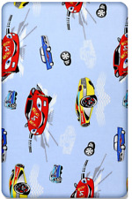 BABY FITTED COT BED SHEET PRINTED 100% COTTON MATTRESS 140x70cm Cars