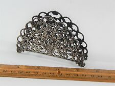 Old Antique European 800 Silver Letter Rack Holder Possibly Made in Finland