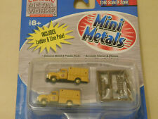 MINI-METALS ** '54 F-350 UTILITY TRUCKS * POWER & LIGHT ** CLM ** N Scale *NEW*