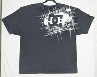 Vintage DC Shoes Black White Graphic T-shirt Mens 2XL XXL Skate Skateboard