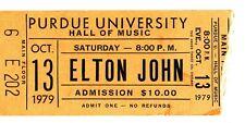 gr:  Elton John Concert Ticket, Purdue University 10/13/1979, E202