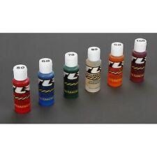 Shock Oil 6-Pack Weights: 50,60,70,80,90,100, 2 oz each bottle TLR74021