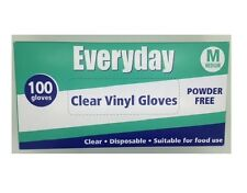 Everyday My Care Medium Clear Powder Disposable Vinyl Glove - Pack of 100