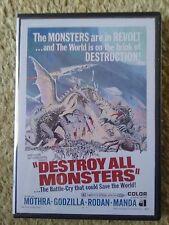 1968 DESTROY ALL MONSTERS DVD w/ Original AIP Audio - Godzilla, Rodan, Ghidorah