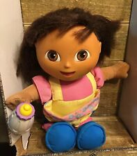 Talking Dora The Explorer Girl Doll Baby Sitter Big Sister Fisher Price Toy 12""