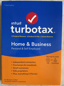 Intuit Turbo Tax Home & Business 2019