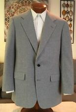 Bullock & Jones 100% Cashmere Mens 2 Btn Gray Blazer Sz 40 R MINT!