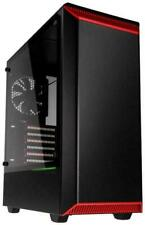 Phanteks Eclipse P300 Tempered Glass Mid Tower Case - Black/Red Mid Tower