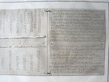 ECRITURE en LATIN ANQUITE GRAVURE  NAPLES VESUVE ERCOLANO XVIIIéme siécle.