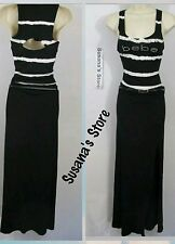 NWT BEBE Side Slit belted Maxi Dress SIZE XS Effortless Upscale sexy Maxi!!