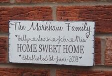 buy wooden personalised family names decorative wall plaques ebay