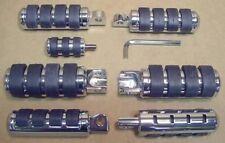Split Rubber Foot Peg Set fits Harley XL, FXE w/ Hwy Pegs