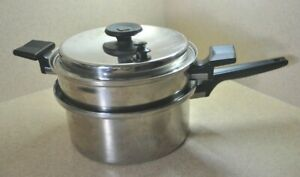4-Pc Royal Prestige 3 Qt 7-Ply Titanium Stainless Saucepan w/Steamer & Vapo Lid