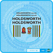 Holdsworth Equipe - Bicycle Decals Transfers Stickers - Black / Silver - Set 12