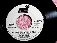CLYDIE KING~THE LONG AND WINDING ROAD~NEAR  MINT~RARE PROMO~ ~ SOUL 45