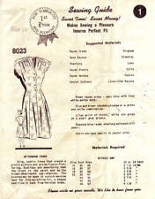 Vintage Sewing Pattern Mail Order No. 8023 Afternoon Frock 1940s