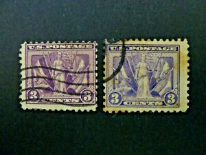 Lot of Two 1919 $.03 #537 Victory Issue Used - See Description & Images