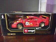 Bburago 1/18 1992 Ferrari F40 Red Evoluzione #3.....Gold Wheels!!!!