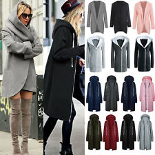 Ladies Women Winter Warm Hoodie Zip Up Coat Lapel Parka Jacket Cardigans Outwear