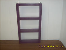 "Dark Purple Wood Hanging Wall Shelf Shadow Box 16"" X  9"" X  2"""