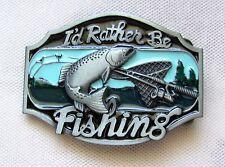 Gürtelschnalle rathe be Fishing - Bin lieber Angeln Fliegenfischen Lachs Buckle