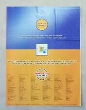 A807-Advertising Pubblicità-2000- TESSUTO SUNFIT SYSTEM
