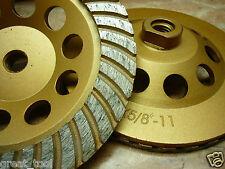 "6"" inch 150mm THK DIAMOND TURBO sintered segment Grinding Cup Wheel 5/8"" or M14"